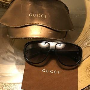 Authentic Gucci black sunglasses